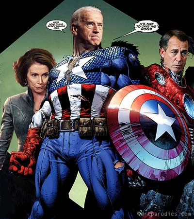 Joe Biden as Captain America
