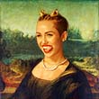 Miley Cyrus as Mona Lisa