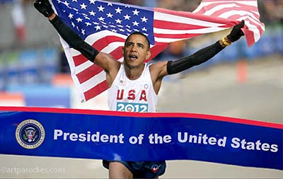 Obama wins the 2012 election