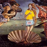 Botticelli's Birth of Venus parody
