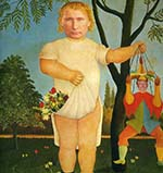 Trump as Putin's puppet in Henri Rouseau's painting