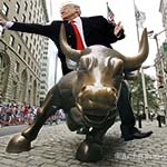 Trump rides the bull up Wall Street